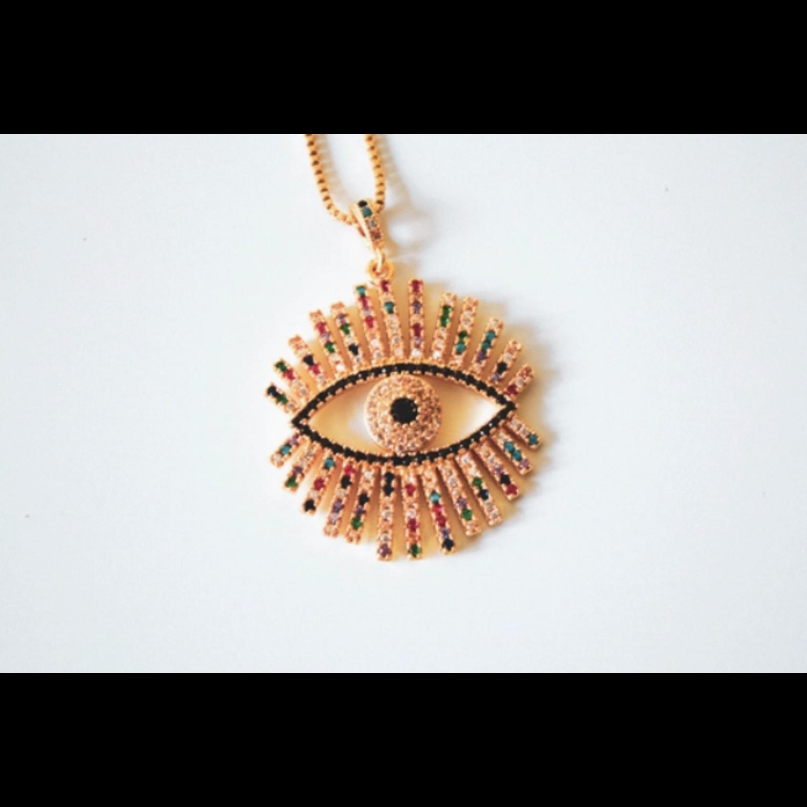 Mamanhippie Collier evil eye - Mamanhippie