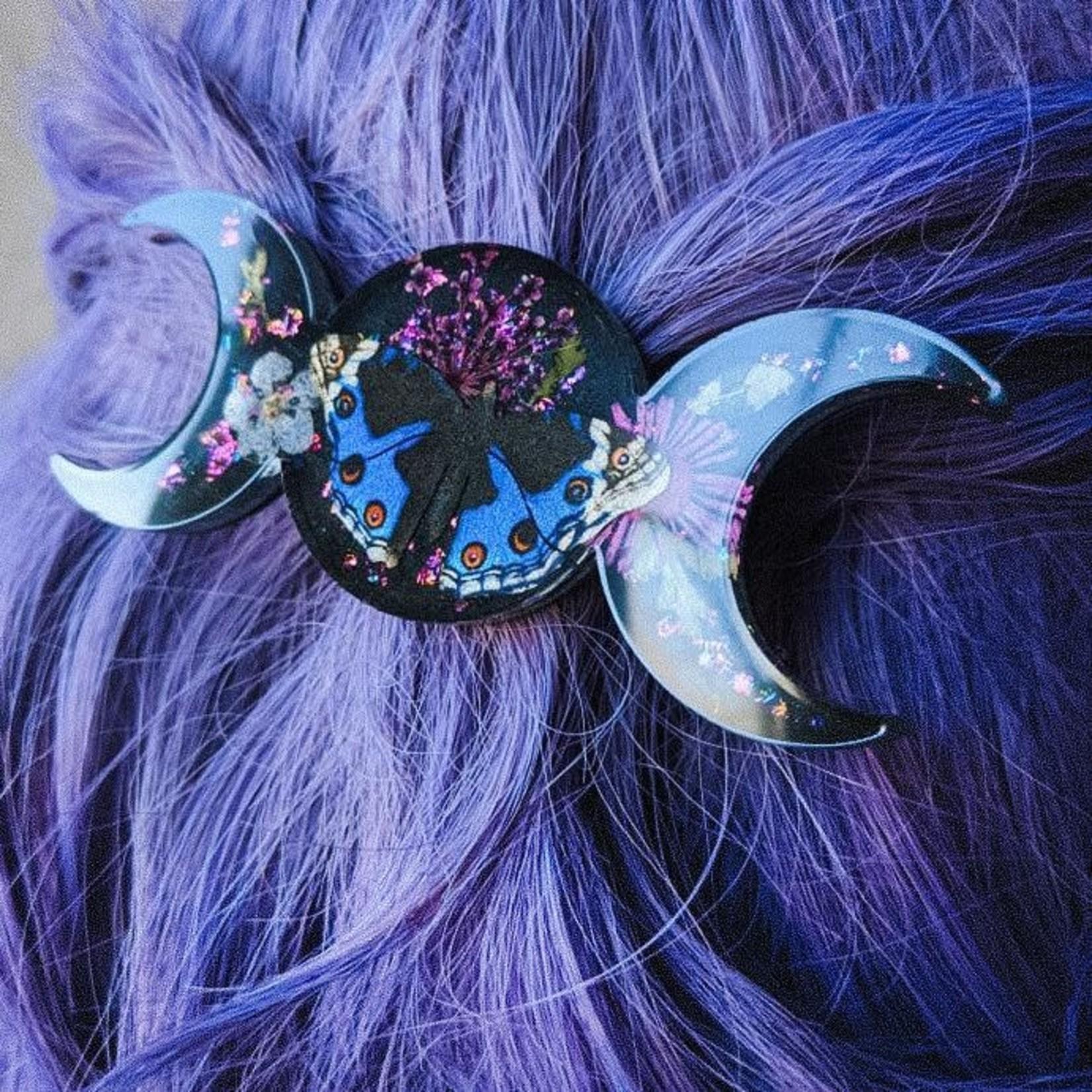 Luna Corvus Moonphase clip (bleu) - Luna Corvus