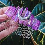 Luna Corvus Peigne purple quartz - Luna Corvus