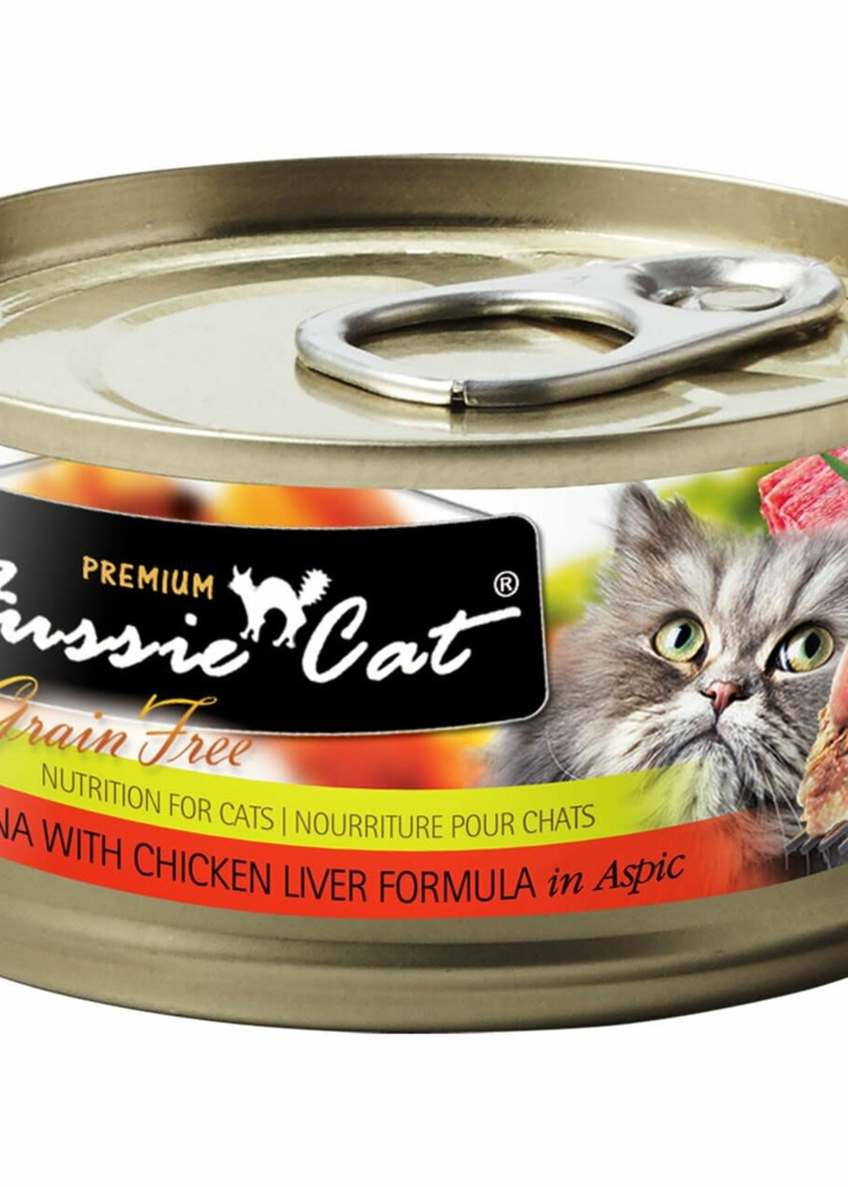 Fussie Cat Fussie Cat Premium Tuna w/Chicken Liver in Aspic 2.82oz