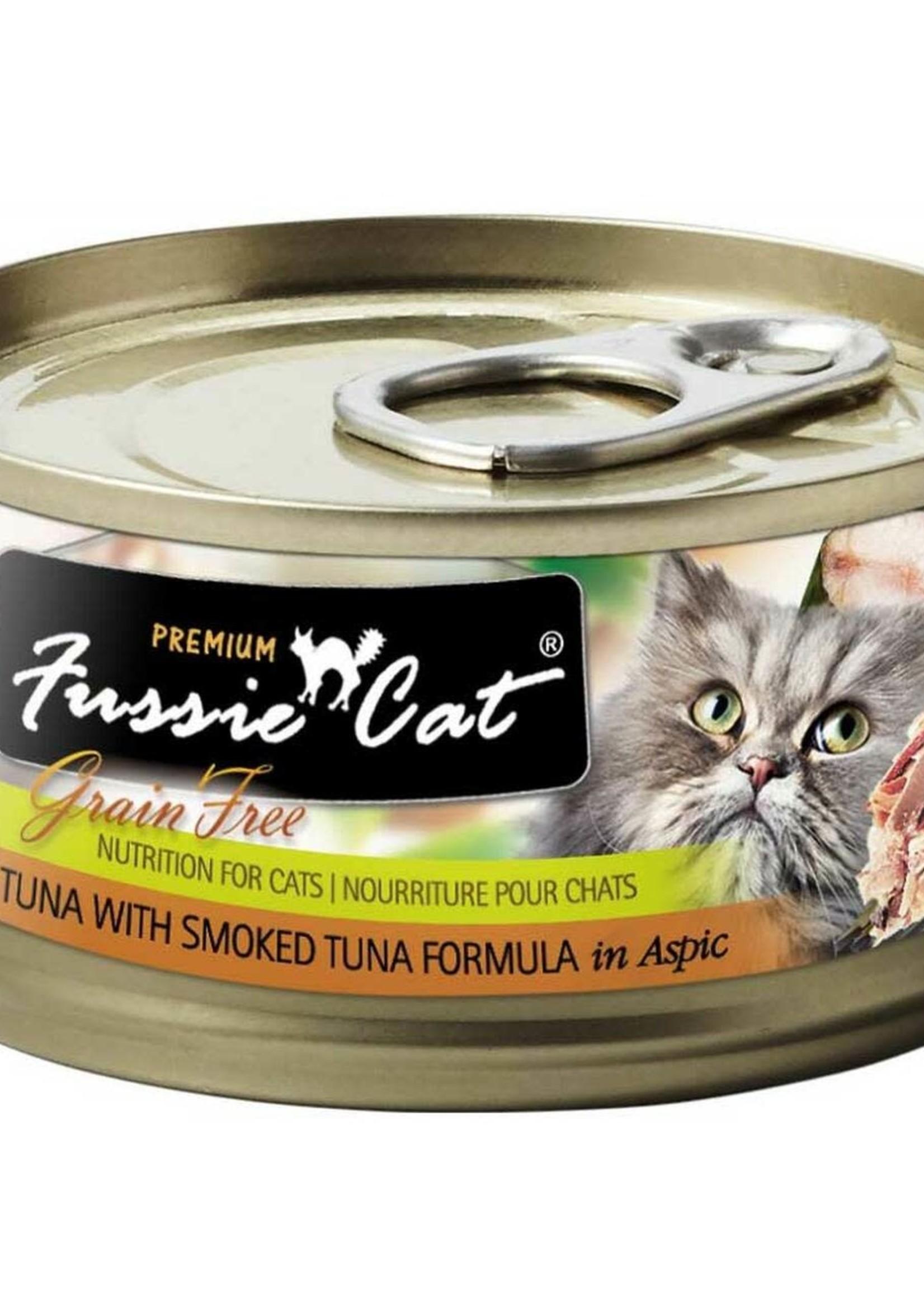 Fussie Cat Fussie Cat Premium Tuna w/Smoked Tuna in Aspic 2.82oz