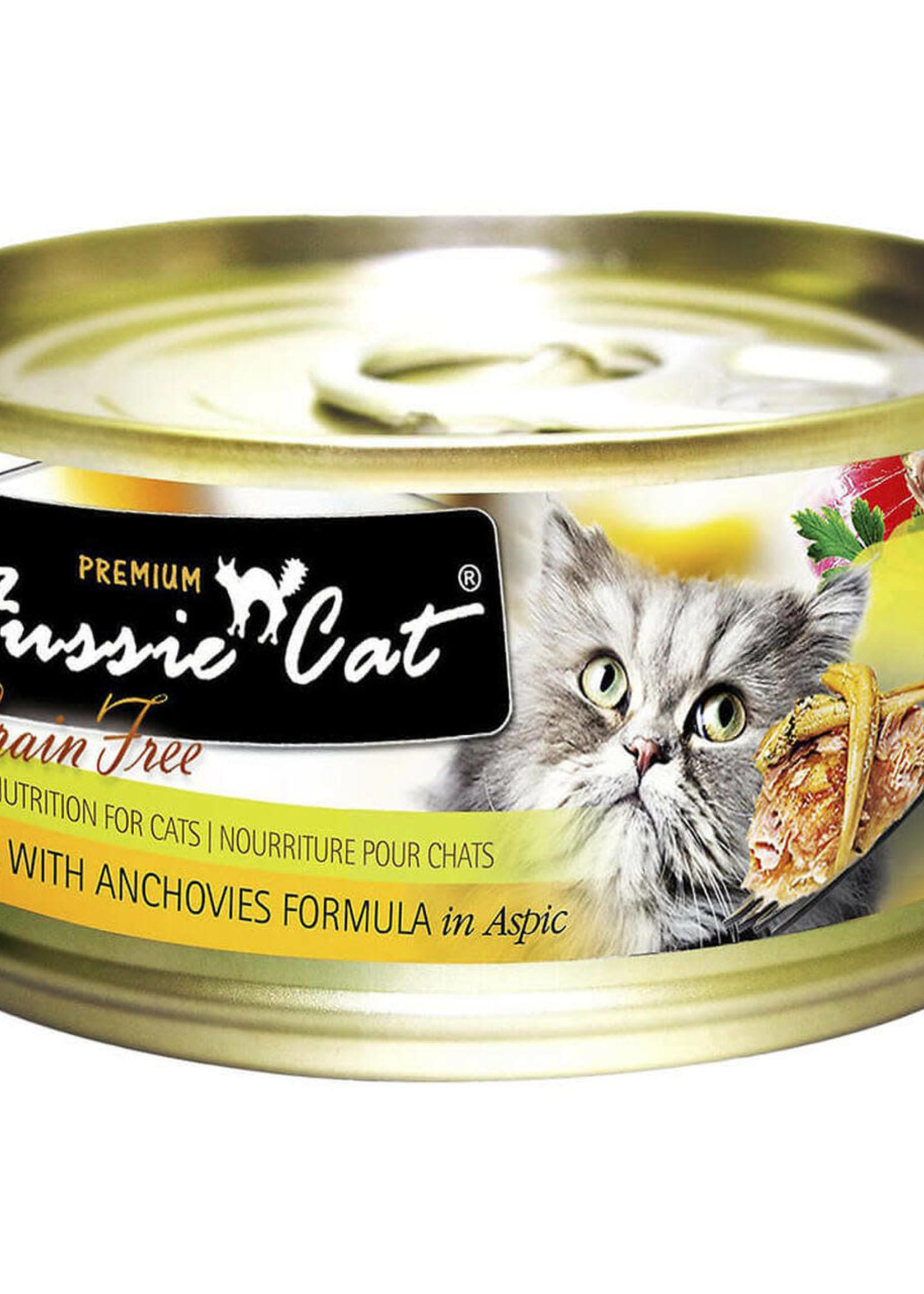 Fussie Cat Fussie Cat Premium Tuna w/Anchovies in Aspic 5.5oz