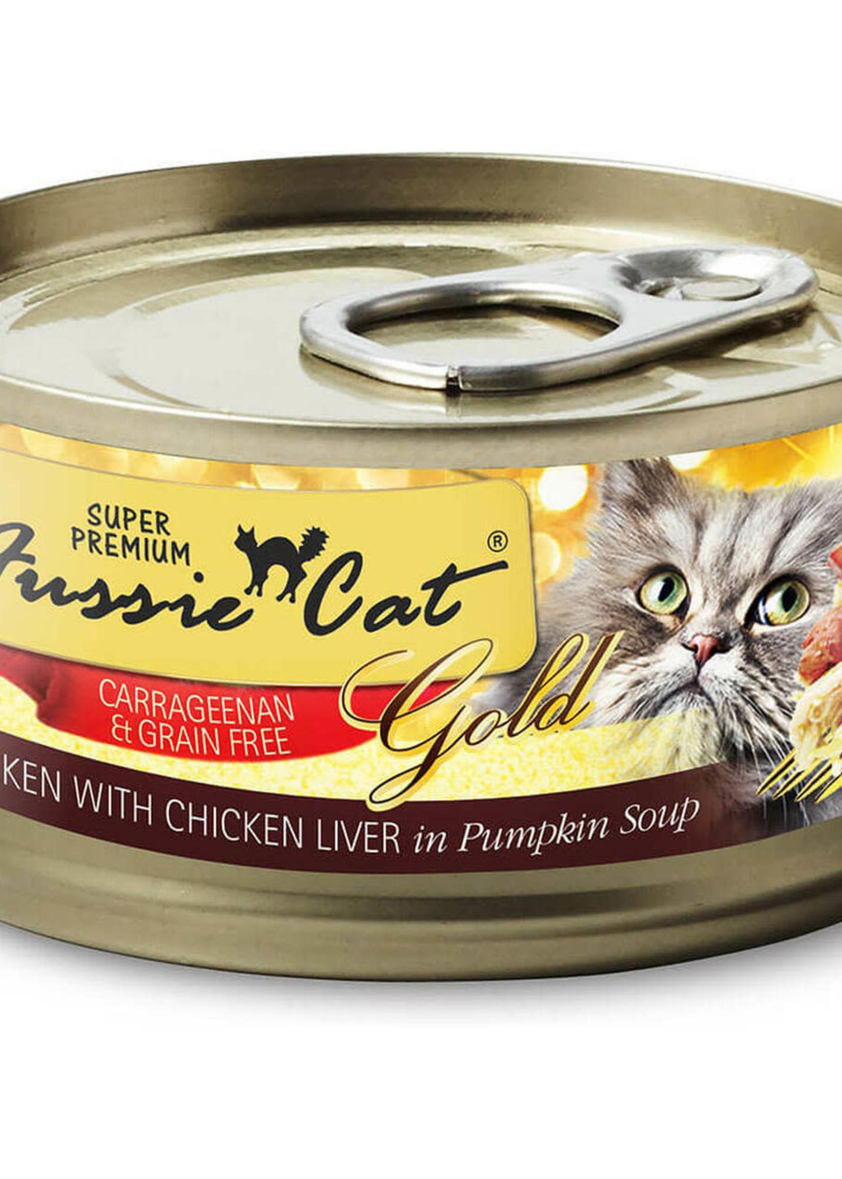 Fussie Cat Fussie Cat Super Premium Chicken w/Chicken Liver in Pumpkin Soup 2.82oz