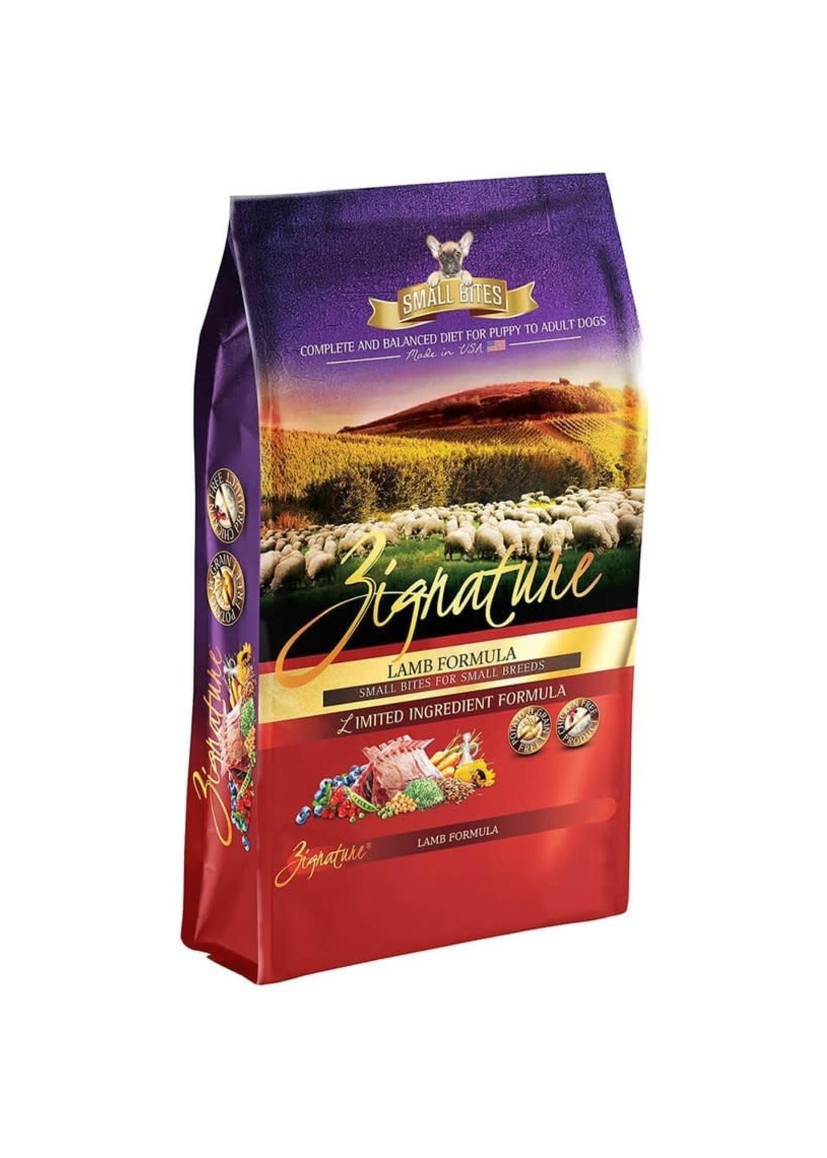 Zignature Zignature Lamb Formula Small Bites Dog Food Dry 4lbs