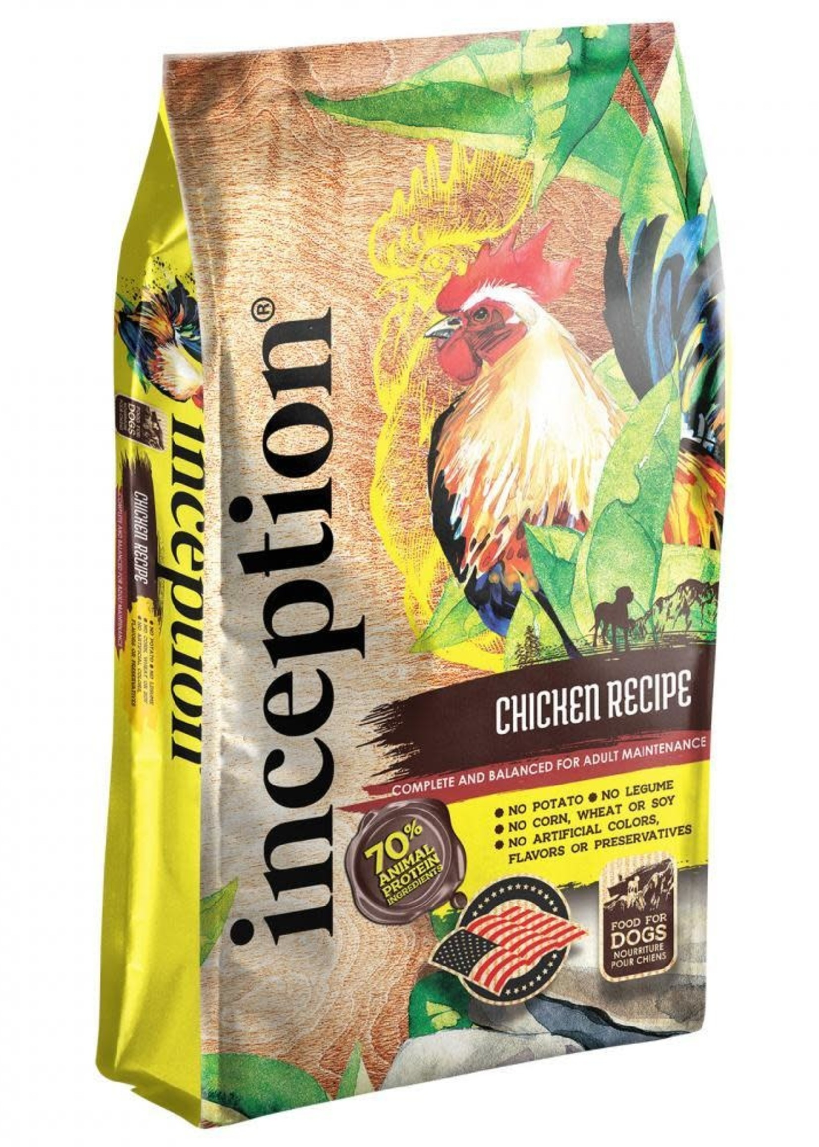 Inception Inception Dog Food Chicken Recipe Dry 4lbs