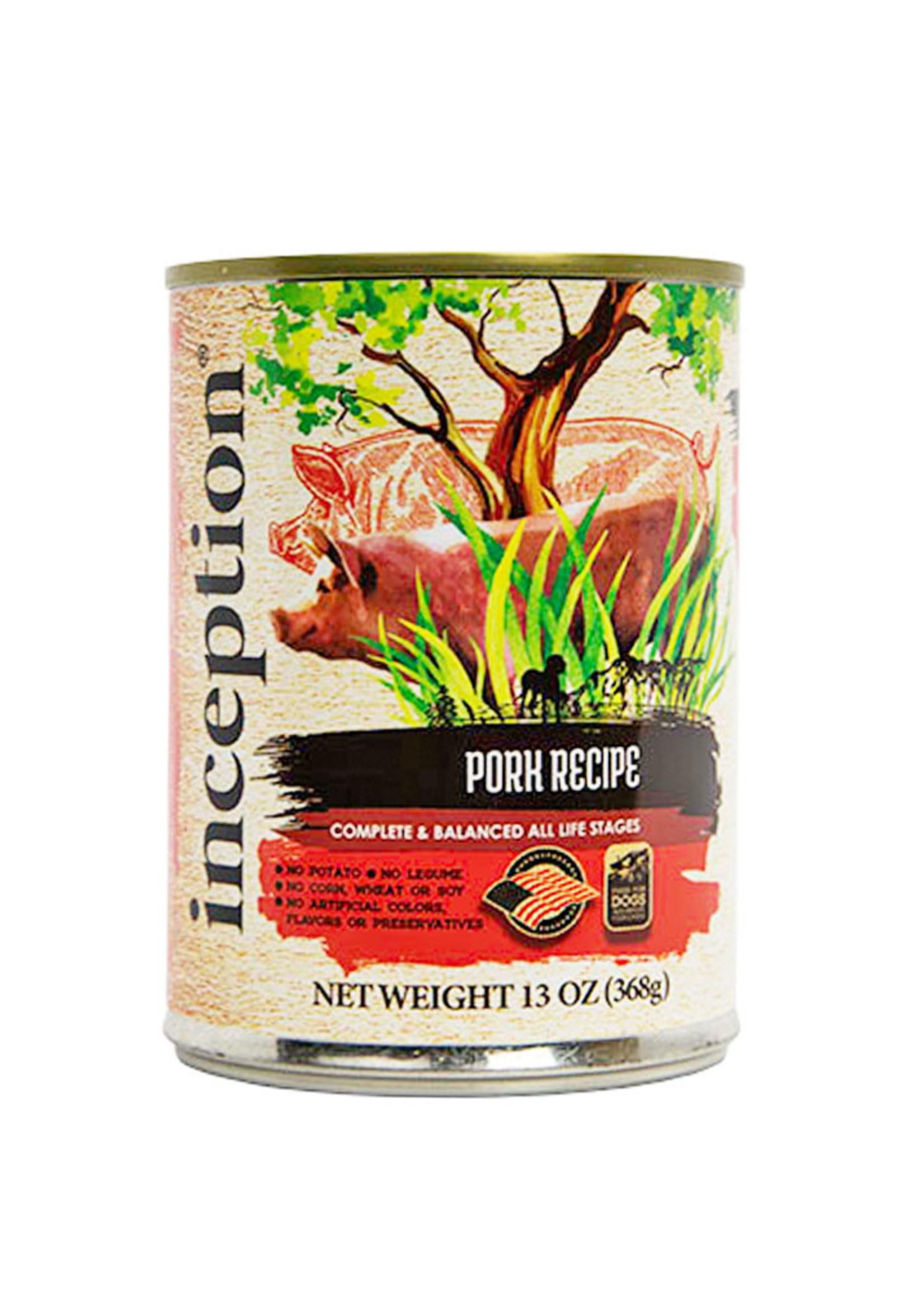 Inception Inception Dog Food Pork Recipe Wet 13oz