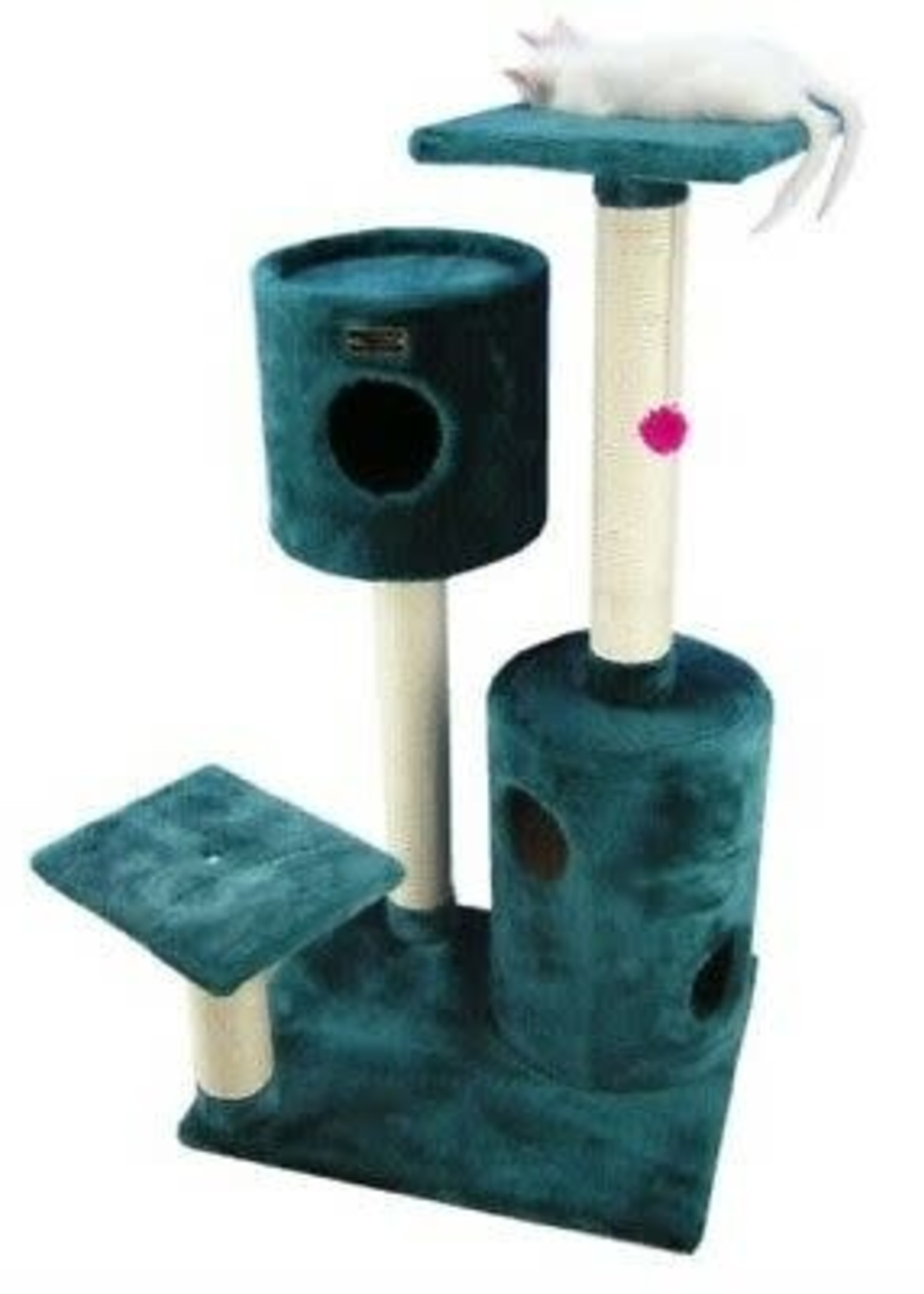 """Armarkat Armarkat 43"""" Cat Tree Condo House With 2 Private Condos Green"""