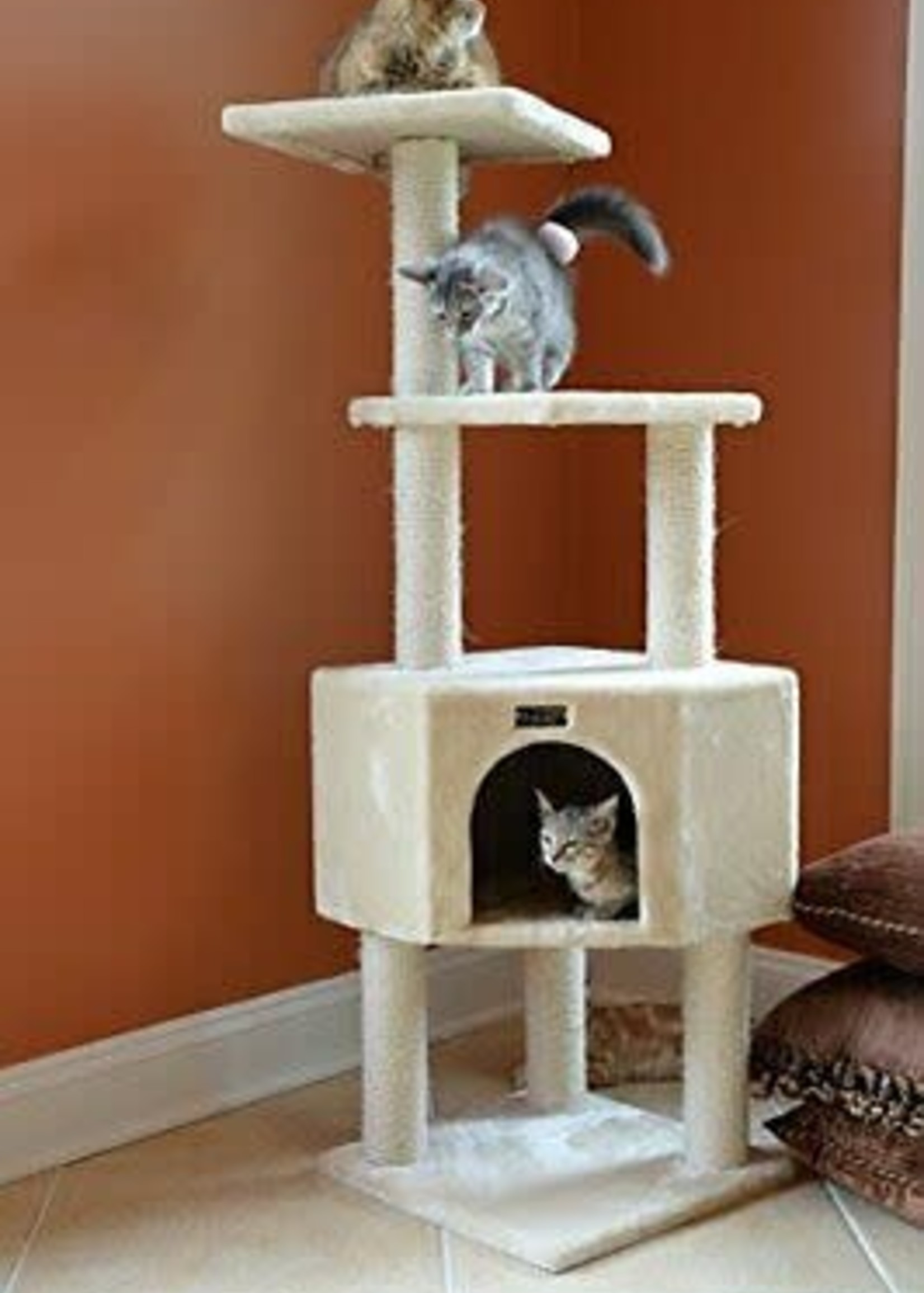 "Armarkat Armarkat 48"" 3 Levels Cat Tower Beige"