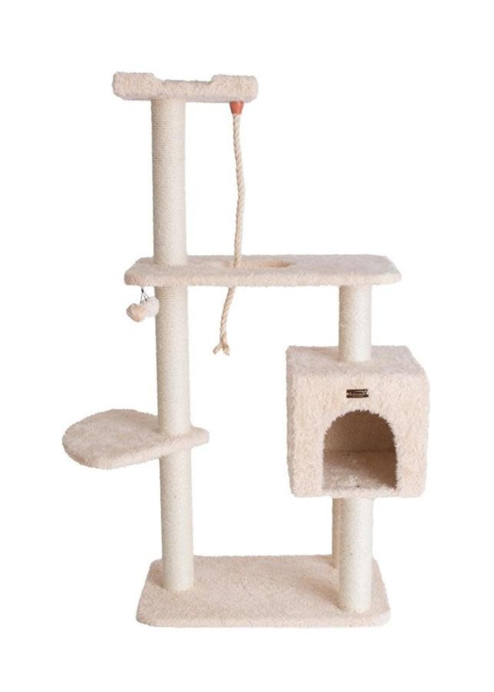 """Armarkat Armarkat 57"""" Faux Fur Covered Cat Scratch Furniture Beige"""
