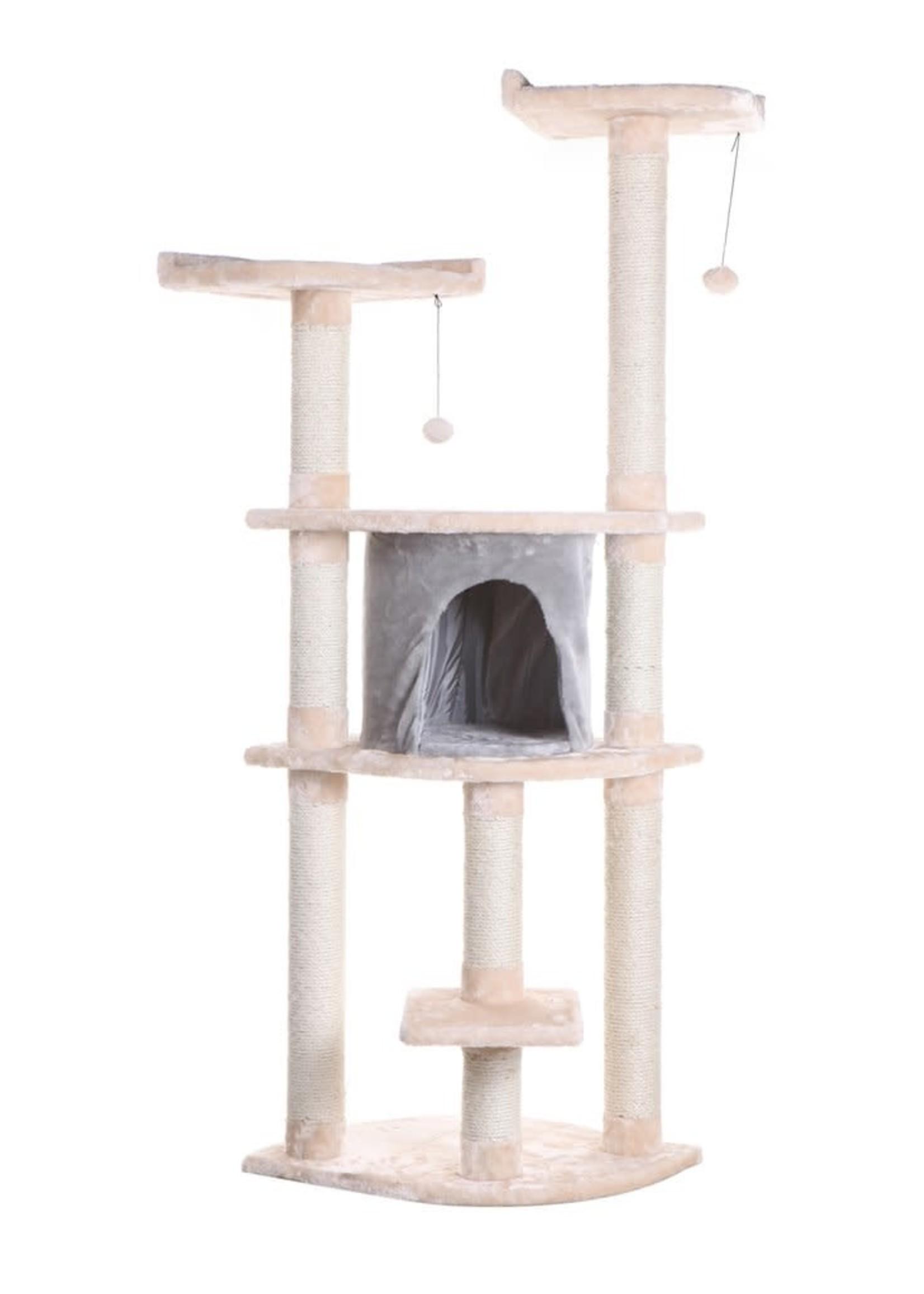 """Armarkat Armarkat 64"""" Cat Tree w/Scratcher Almond"""