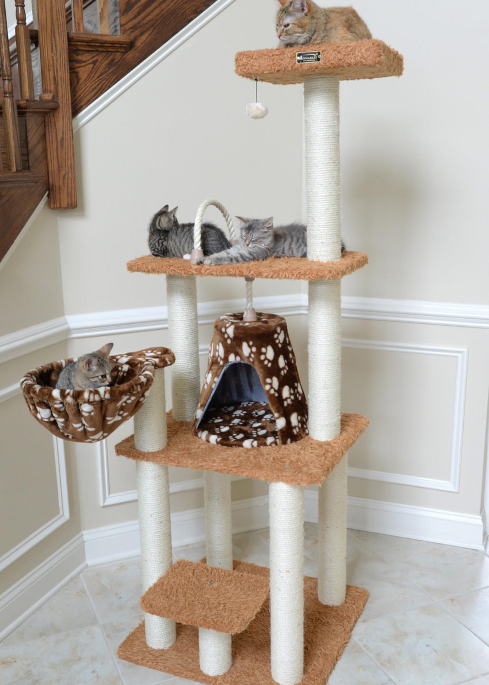 Armarkat Armarkat Brown Carpet Cat Furniture Pressed Wood Kitty Tower
