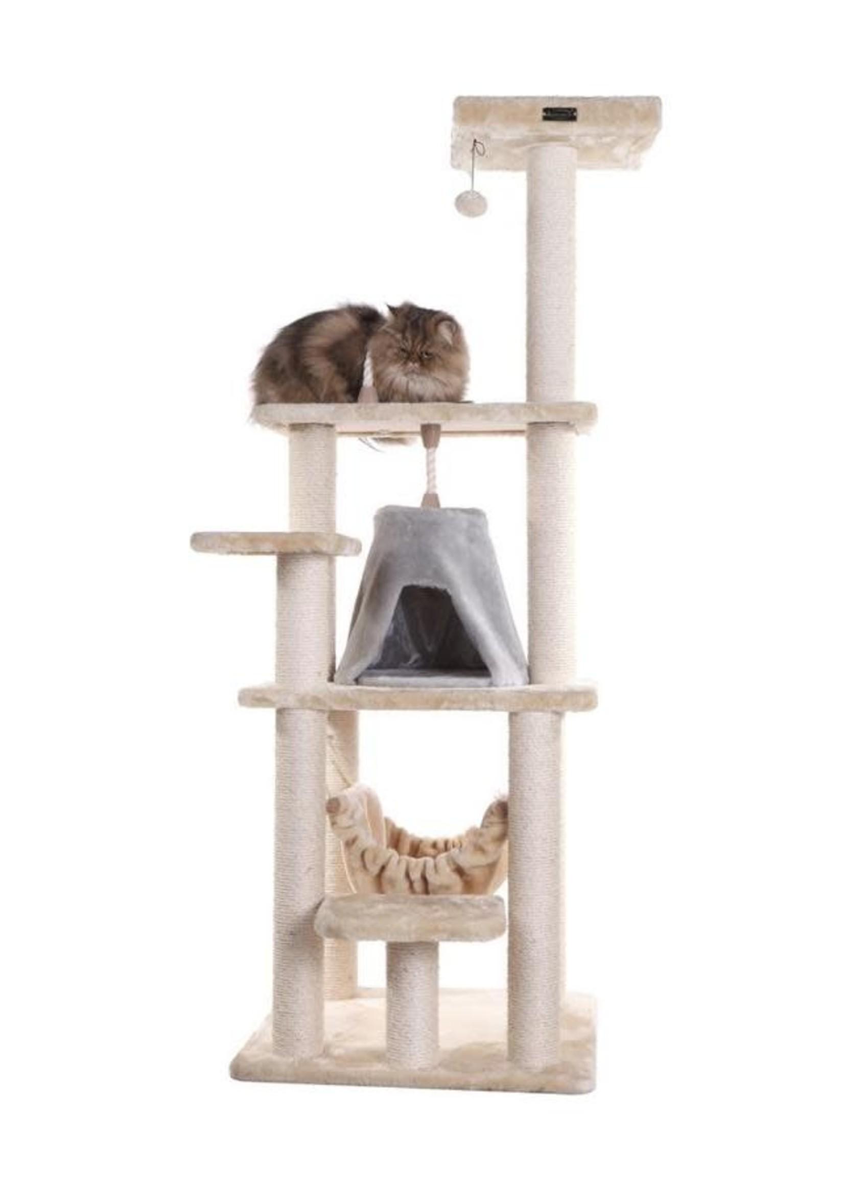 "Armarkat Armarkat 65"" Cat Tree w/Sisal Rope, Hammock"
