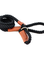 "Auburn Leathercrafters Auburn Leather Rope Leash Snap 1/2"" Black"