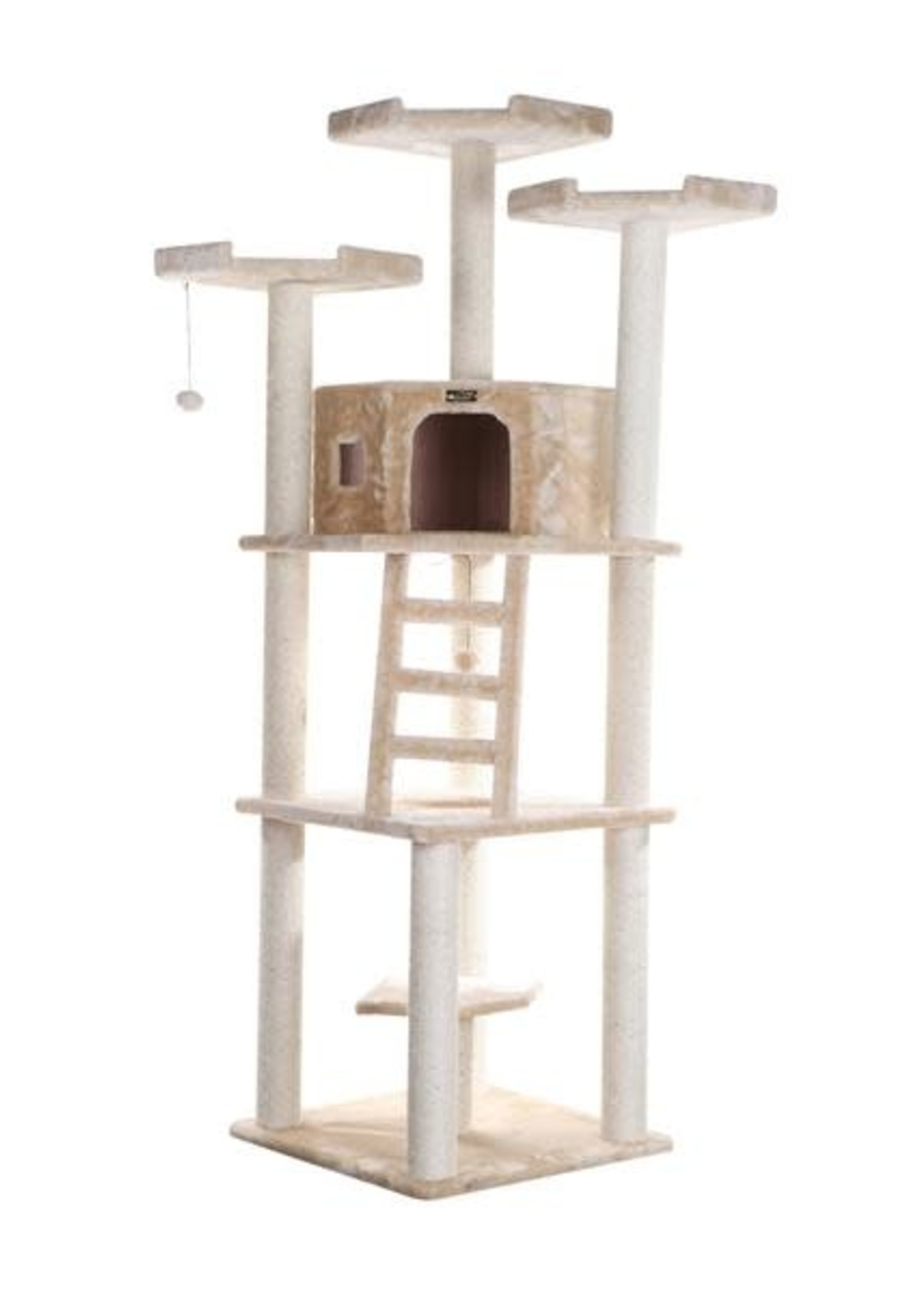 Armarkat Armarkat Multi-Function Cat Tower w/Condo & Perches Beige