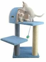 "Armarkat Armarkat 29"" Cat Tree w/Scratcher & Tunnel Sky Blue"