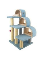 """Armarkat Armarkat 38"""" High Ivory Cat Step Stairs w/Ramp & Sratcher"""