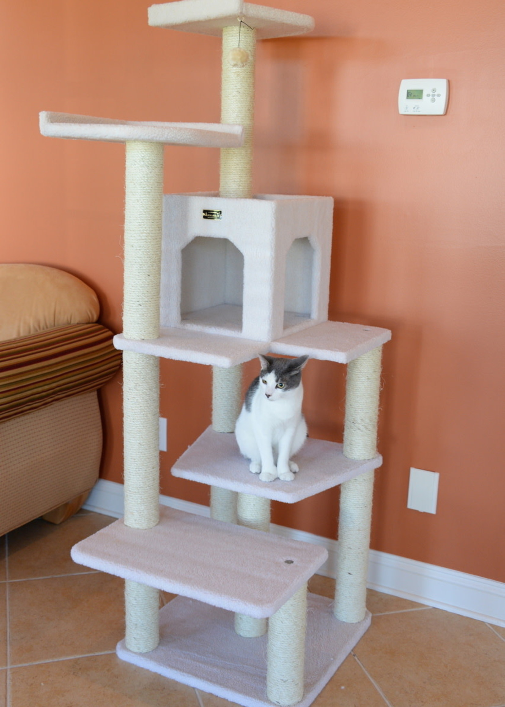 Armarkat Armarkat Galaxy Approved Six Level Condow/Perches Cat Tree Ivory