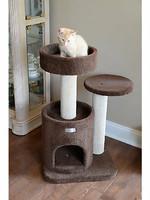 Armarkat Armarkat 3-Tier Carpeted Cat Tree Condo Brown