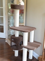 Armarkat Armarkat 3-Level Carpeted Cat Tree Condo Brown