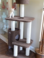 Armarkat Armarkat 3-Level Carpeted Cat Tree Condo w/Activity Center Brown