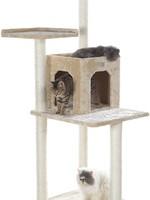 GleePet GleePet GP78571021 57-Inch Cat Tree In Beige With Two-Door Condo