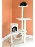 GleePet GleePet GP78590221 59-Inch Cat Tree In Beige With Hammock and Round Condo