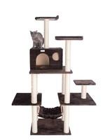 GleePet GleePet GP78680623 68-Inch Cat Tree In Coffee Brown With Five Levels, Condo, Hammock