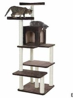 GleePet GleePet GP78680723 66-Inch Cat Tree In Coffee Brown With Four Levels, Two Perches, Condo_x000D_