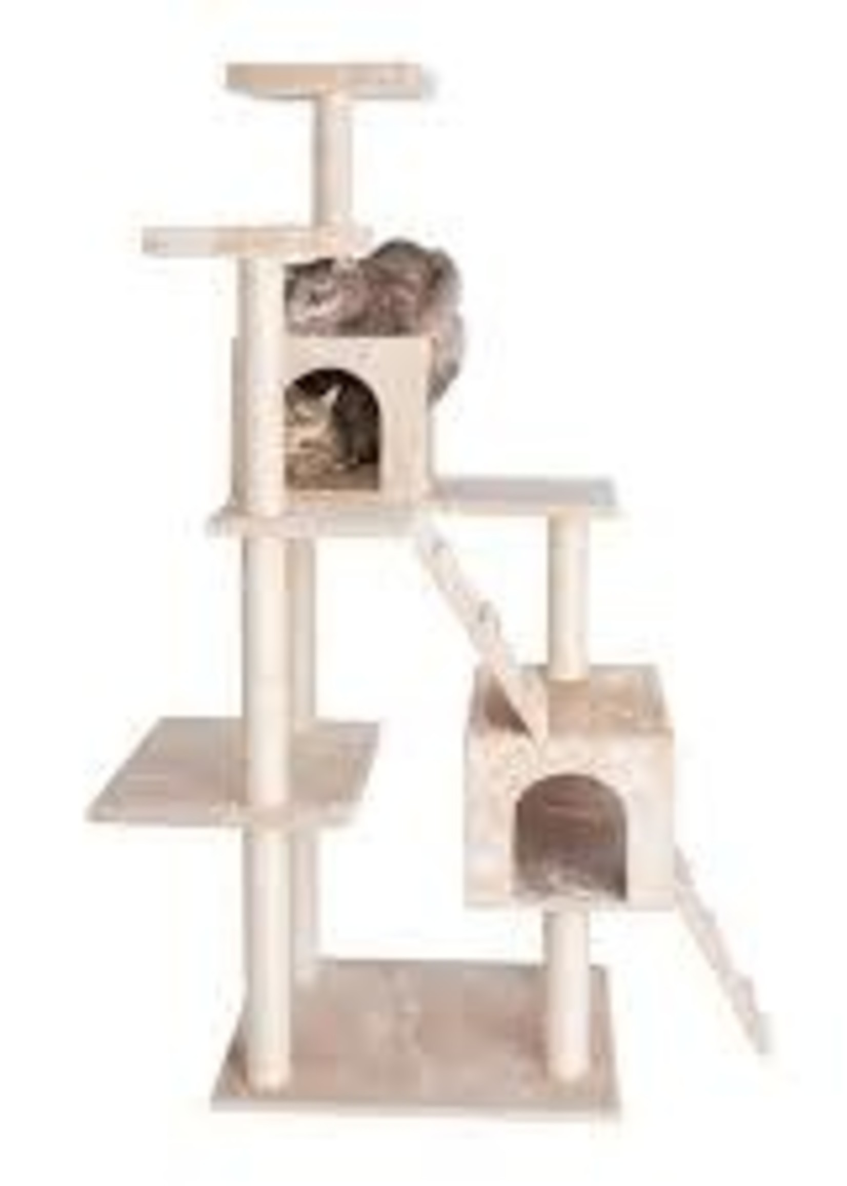 GleePet GleePet GP78700621 70-Inch Cat Tree In Beige With Two Ramps & Condos