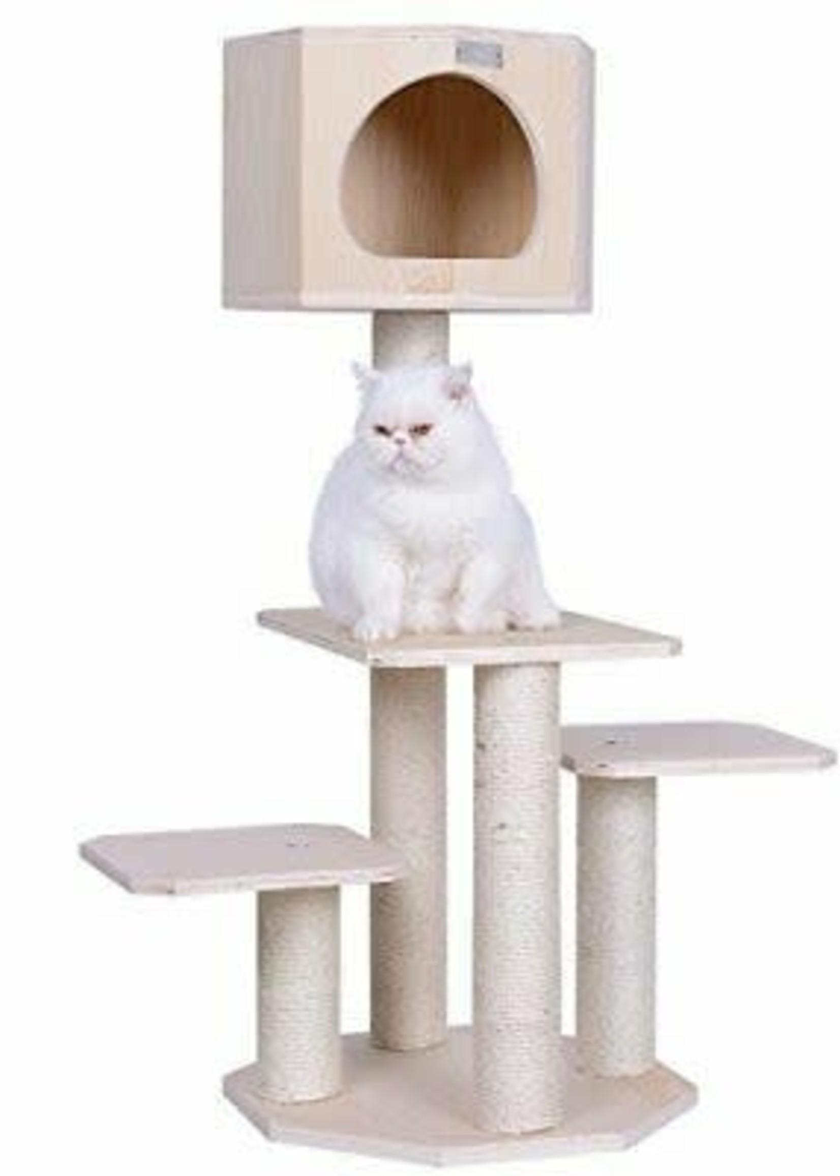 "Armarkat Armarkat 46"" Premium Scots Pine Solid Wood Cat Tree"