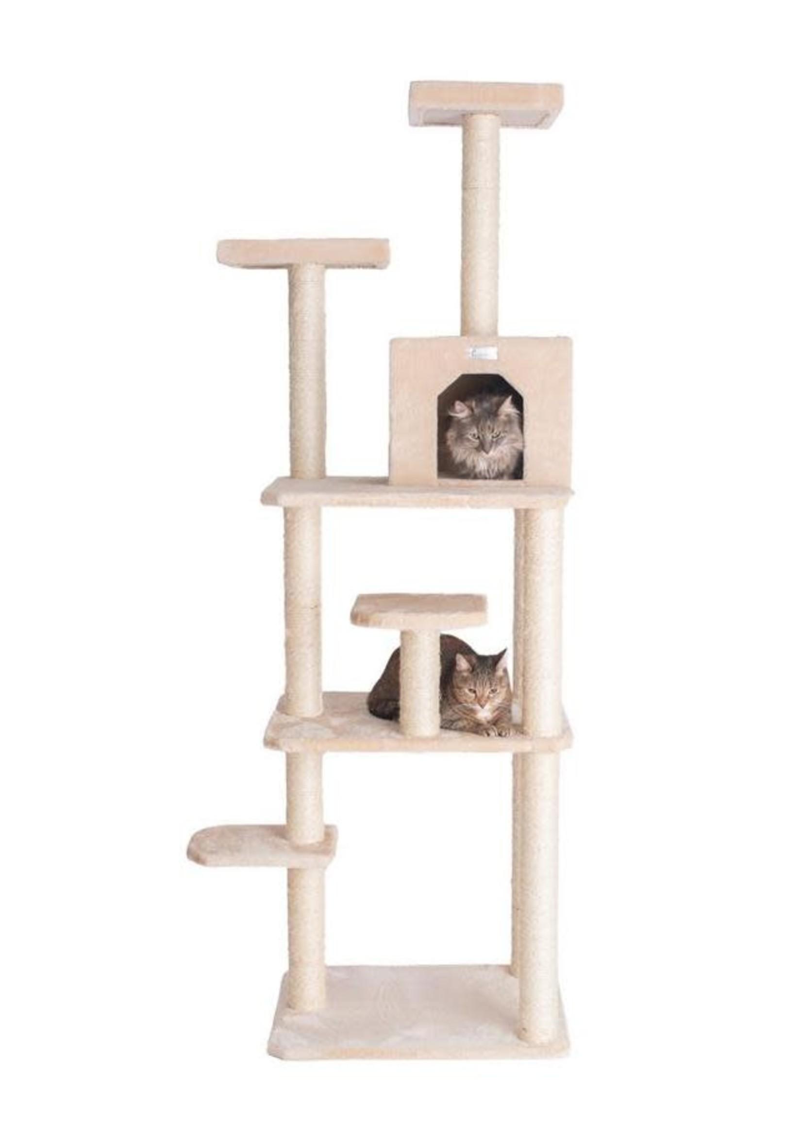 GleePet GleePet GP78740821 74-Inch Cat Tree With Seven Levels, Beige