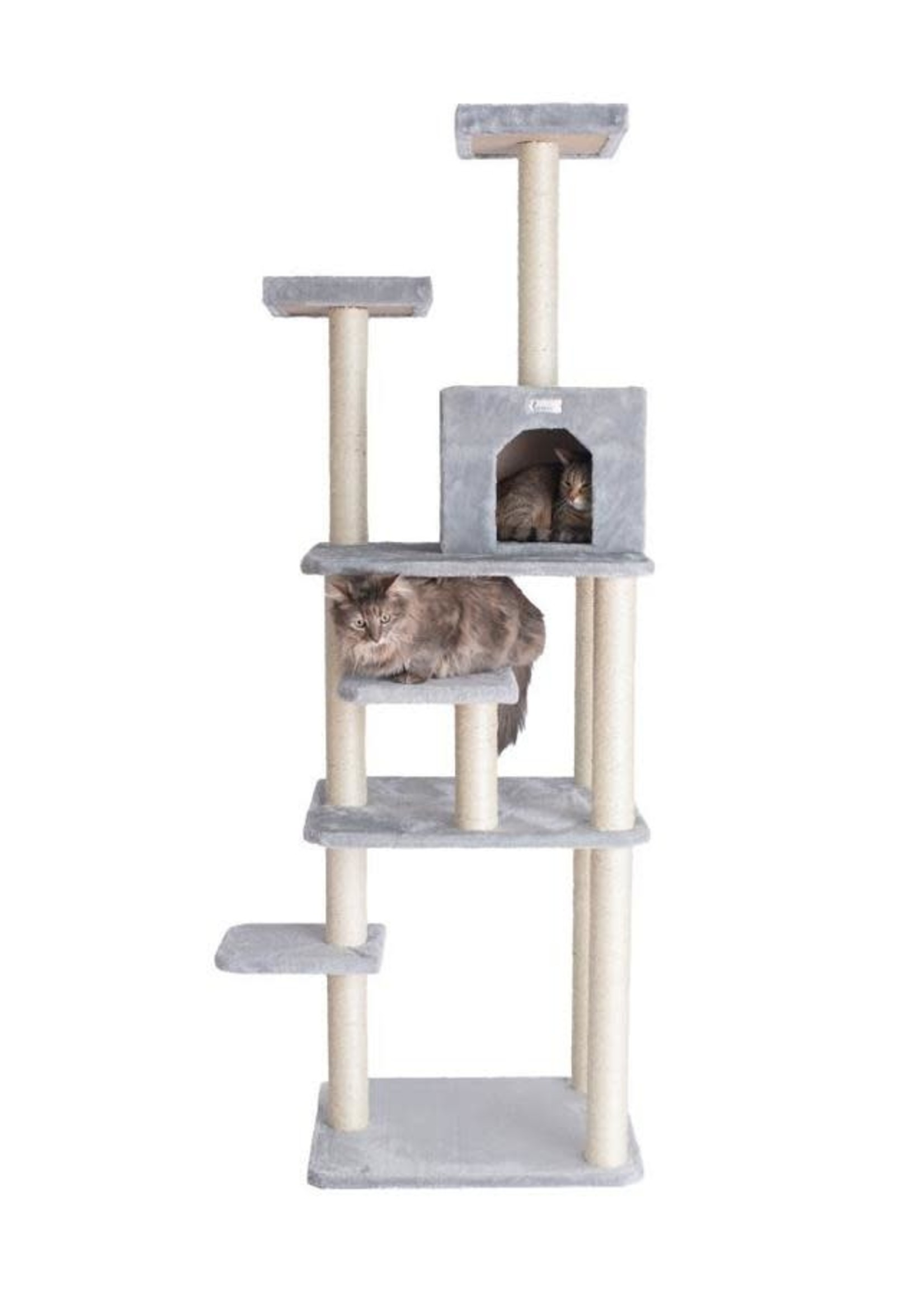 GleePet GleePet GP78740822 74-Inch Cat Tree  With Seven Levels, Silver Gray