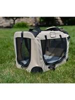 Armarkat Armarkat Folding Soft Dog Crate Pet Travel Carrier Beige