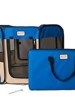 Armarkat Armarkat XL Portable Pet Playpen/Blue & Beige