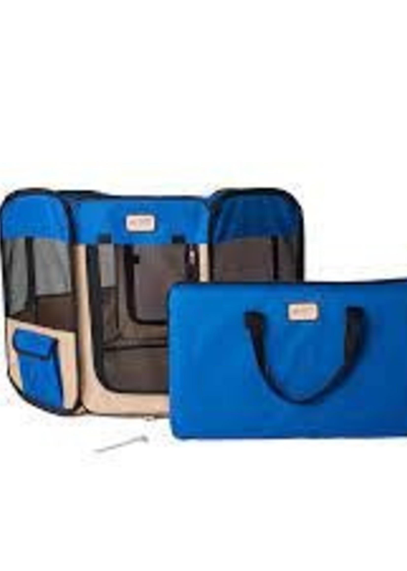 Armarkat Armarkat Med Portable Pet Playpen Combo Blue & Beige