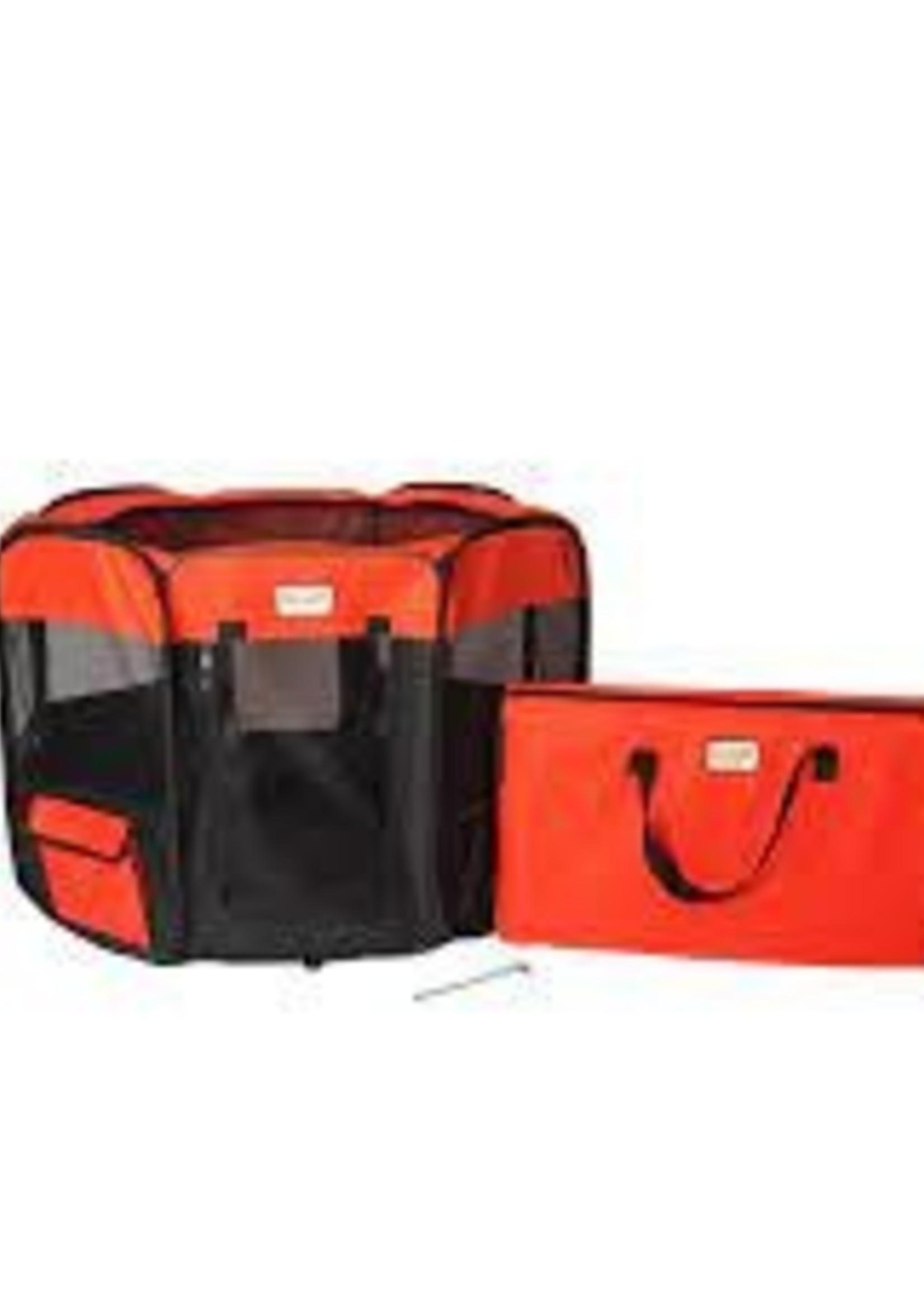 Armarkat Armarkat XL Portable Pet Playpen/Black & Red