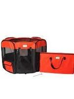 Armarkat Armarkat Med Portable Pet Playpen Combo Black & Red