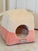 Armarkat Armarkat 2-In-1 Cat Bed Cave Orange/Beige
