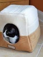 Armarkat Armarkat 2-In-1 Cat Bed Cave Brown/Beige