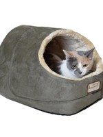"""Armarkat Armarkat 18""""x 12.5""""x 11.5"""" Faux Suede Cat Bed and Cave Laurel Green"""