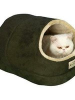 """Armarkat Armarkat 18""""x 12.5""""x 11.5"""" Faux Suede Cat Bed and Cave Sage Green"""