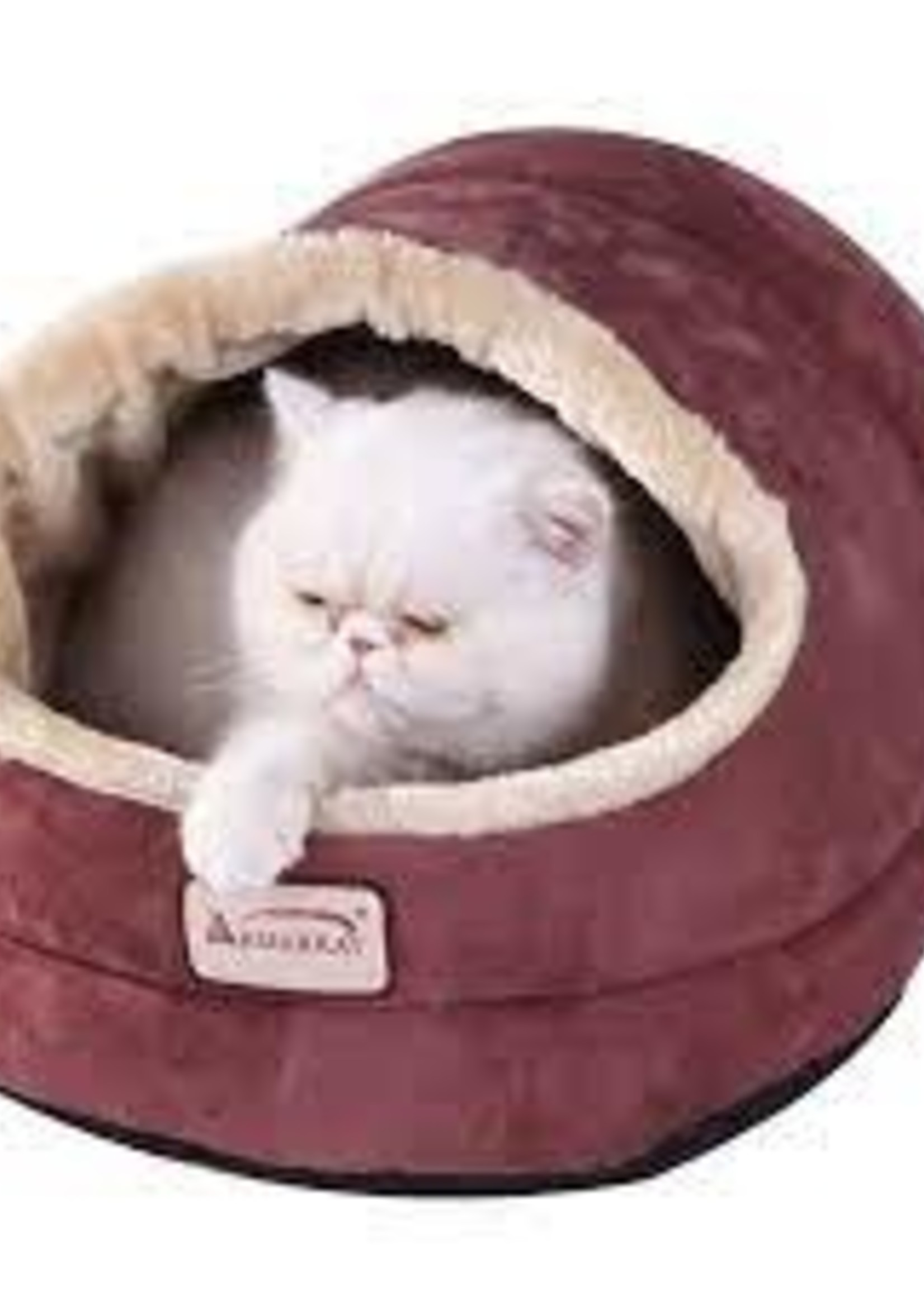 """Armarkat Armarkat 18""""x 12.5""""x 11.5"""" Faux Suede Cat Bed and Cave Indian Red"""