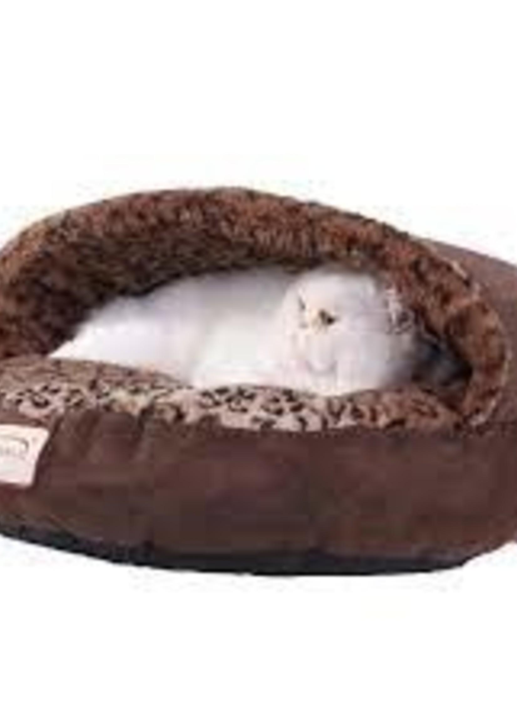 Armarkat Armarkat Cuddle Cave Cat Bed w/Anti-Slip Bottom Mocha/Leopard