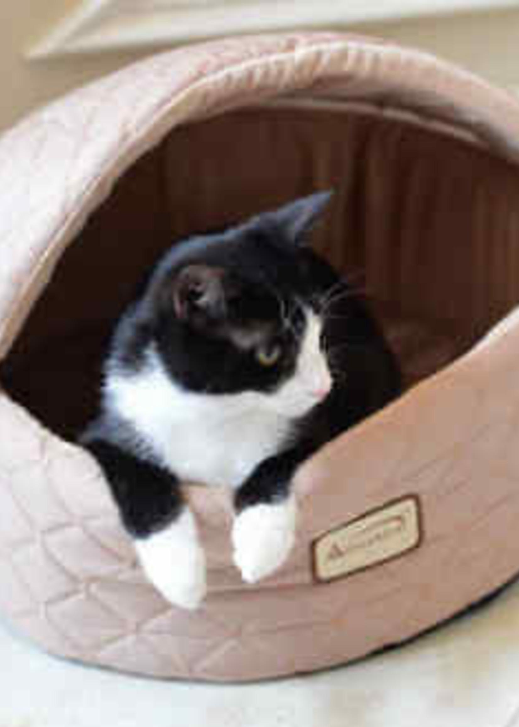 Armarkat Armarkat Med Cuddle Cave Cat Bed w/Detachable & Collasible Zipper Top Light Apricot