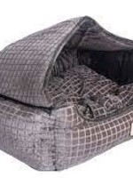 Armarkat Armarkat Small Cuddle Cave Cat Bed w/Detachable & Collapsible Zipper Top Bronze & Silver