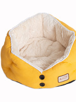 Armarkat Armarkat Cat Bed Gold Waffle and White