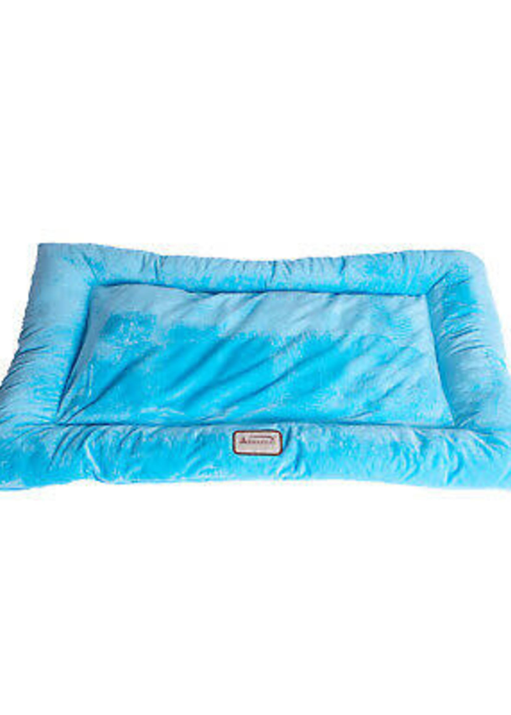 Armarkat Armarkat Med Dog Crate Soft Pad Mat w/Poly Fill Cushion Sky Blue