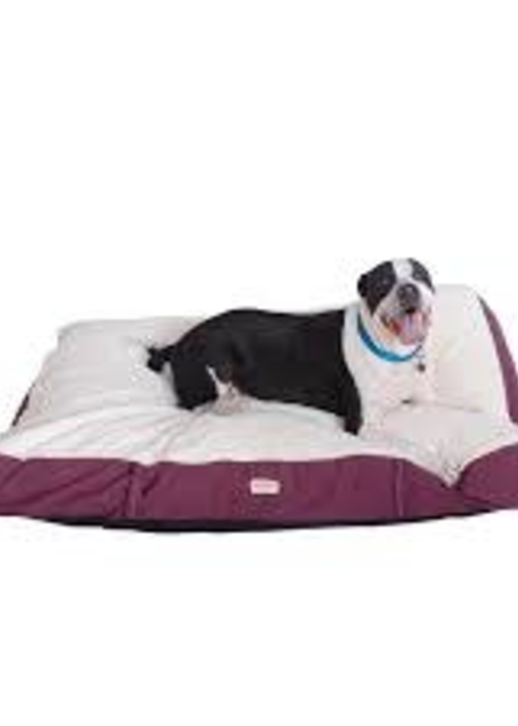 Armarkat Armarkat XXL Pet Bed Mat w/Poly Fill Cushion Removable Cover Ivory & Burgundy