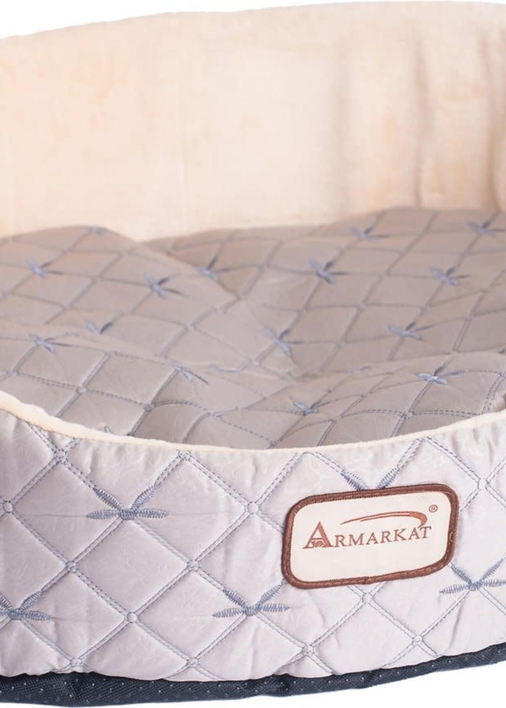 Armarkat Armarkat Oval Cuddle Nest Lounger Pet Bed Pale Silver & Beige