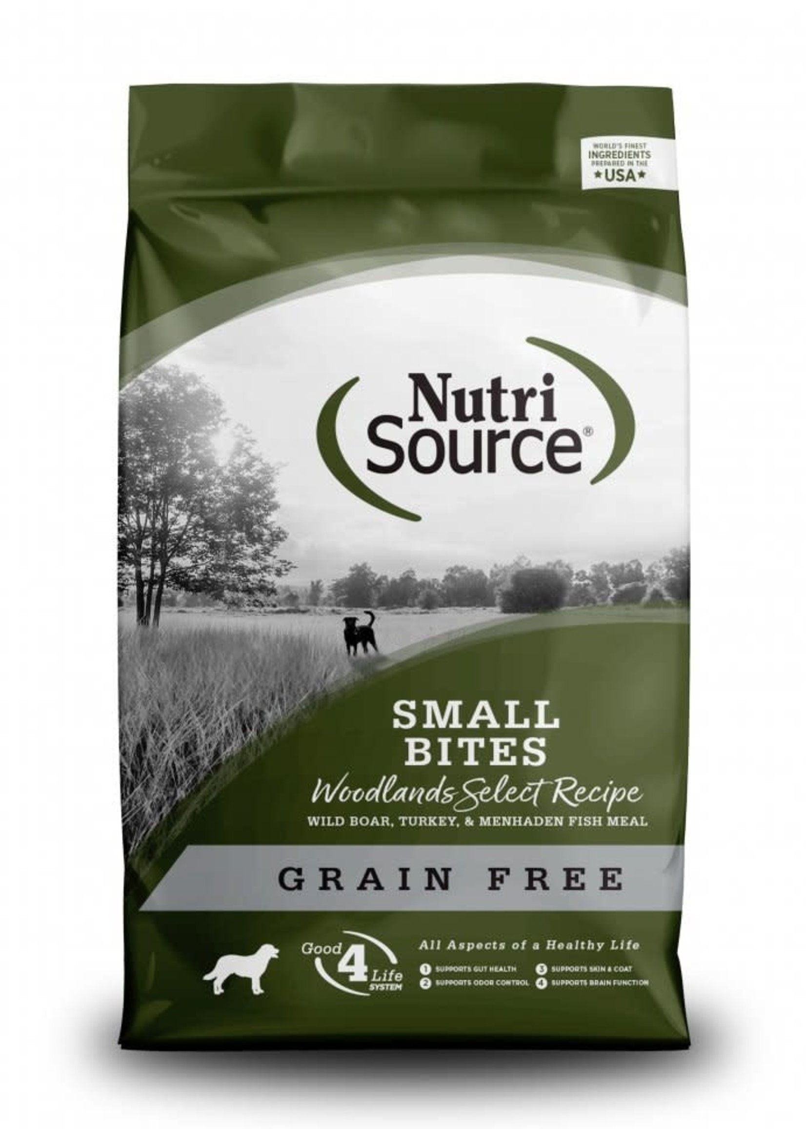 Nutrisource Nutrisource Woodlands Small Bites Grain-Free Dry Dog Food 15lbs